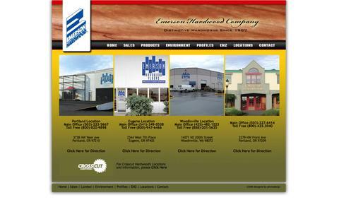 Screenshot of Locations Page emersonhardwood.com - emerson hardwood group - captured Oct. 2, 2014