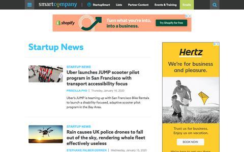 Screenshot of Press Page smartcompany.com.au - Startup News - SmartCompany - captured Jan. 16, 2020