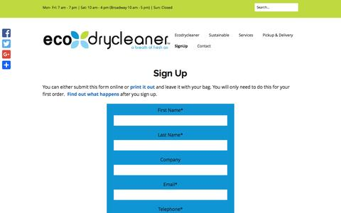 Screenshot of Signup Page ecodrycleaner.com - SignUp - Ecodrycleaner - captured Dec. 14, 2015