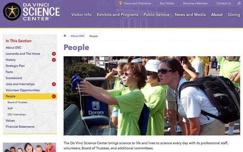 Screenshot of Team Page davincisciencecenter.org - People - Da Vinci Science Center - Da Vinci Science Center - captured June 3, 2017