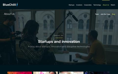 Screenshot of Blog bluechilli.com - Startup, Innovation & Technology Blog | BlueChilli - captured Sept. 8, 2017