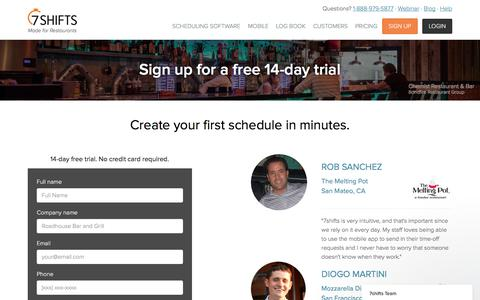 Sign Up for a Free Account | 7shifts