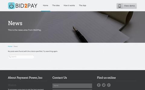 Screenshot of Press Page paymentpower.net - News | Bid2Pay - captured Oct. 2, 2014