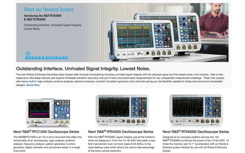ROHDE & SCHWARZ New! 3K 4K Series Oscillioscopes