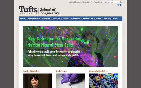 Tufts University | School of Engineering: Home