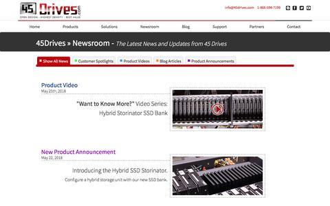 Screenshot of Press Page 45drives.com - 45 Drives Community Resources - captured Sept. 21, 2018