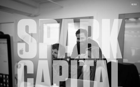 Screenshot of Home Page sparkcapital.com - Spark Capital - Dedicated to revolutionary new businesses - captured Jan. 9, 2016