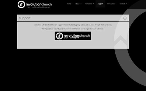 Screenshot of Support Page thisisrevolution.tv - support  |  revolution church | - captured Oct. 3, 2014