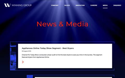 Screenshot of Press Page winning.com.au - Winning Group - captured Sept. 24, 2018