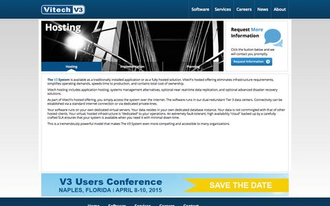 Screenshot of Services Page vitechinc.com - Vitech Systems Group - Hosting - captured Oct. 26, 2014