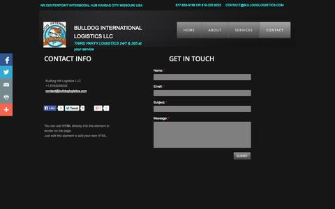 Screenshot of Privacy Page Contact Page Locations Page bulldoglogistics.com - Locations - captured Oct. 27, 2014