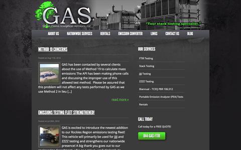 Screenshot of Blog gas-stacktesting.com - Blog - Great Plains Analytical Services - captured Sept. 19, 2017
