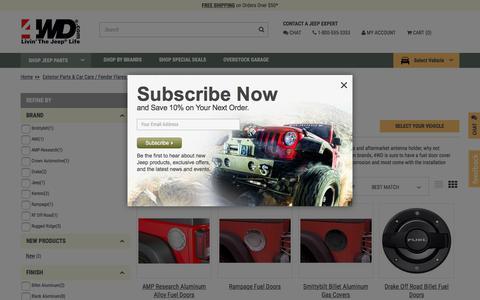 Jeep Fuel Door | {InStock} Gas Cap Covers for Wrangler at 4WD.com