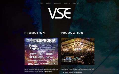 Screenshot of Services Page vividsoundentertainment.com - Services Ń Vivid Sound Entertainment - captured Jan. 11, 2016
