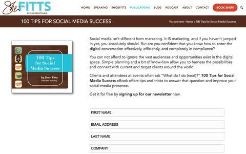 Screenshot of Signup Page shoefitts.com - 100 Tips for Social Media Success - captured Sept. 24, 2018