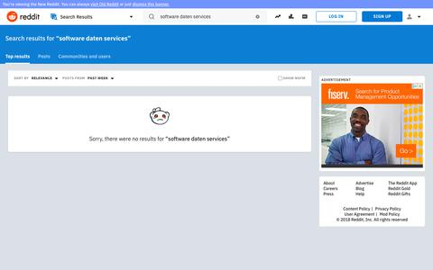 reddit.com: search results - software+daten+services