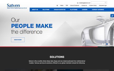 Screenshot of Home Page satyamventure.com - Satyam Venture - captured June 10, 2017