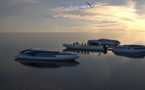 Screenshot of Home Page splinenavalarchitecture.co.uk - Spline Naval Architecture - captured Feb. 15, 2016
