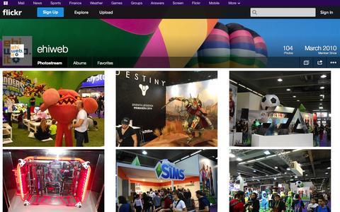 Screenshot of Flickr Page flickr.com - Flickr: ehiweb's Photostream - captured Oct. 22, 2014