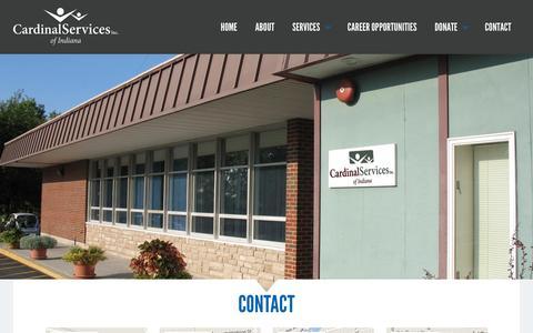 Screenshot of Contact Page cardinalservices.org - Contact - Cardinal Services of IndianaCardinal Services of Indiana - captured Jan. 25, 2016