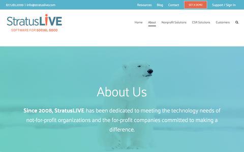 Screenshot of About Page stratuslive.com - About - StratusLIVE - captured Nov. 17, 2019