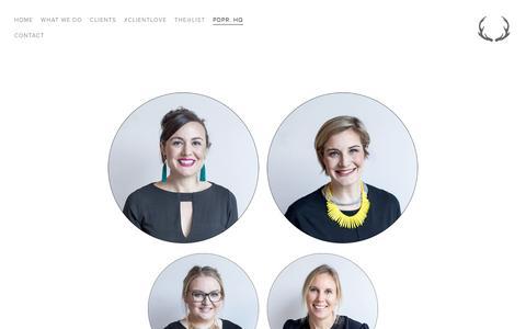Screenshot of Team Page pdpr.com.au - the team — pdpr. marketing and creative - captured Nov. 14, 2016