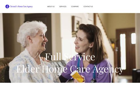 Screenshot of Home Page christelshomecare.com - SF Bay Area Agency for Elder Caregivers - captured Sept. 28, 2018
