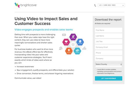 Screenshot of Landing Page brightcove.com - Brightcove | Using Video to Impact Sales and Customer Success - captured March 26, 2018