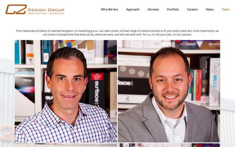 Screenshot of Team Page c2-designgroup.com - C2 Design Group | Team - captured Nov. 1, 2018