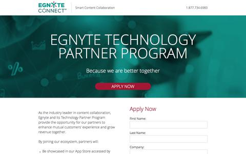 Screenshot of Landing Page egnyte.com - Egnyte - captured July 9, 2017
