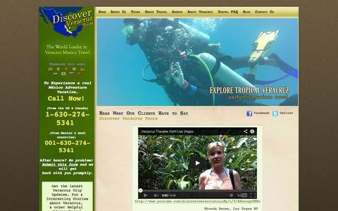 Screenshot of Testimonials Page discoververacruztours.com - Mexico Adventure, Mexico Eco Tourism | Discover Veracruz Testimonials - captured Oct. 5, 2014