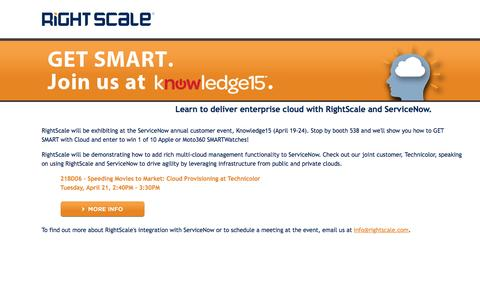 Join RightScale at ServiceNow Knowledge15