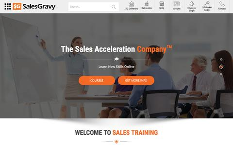 Screenshot of Home Page salesgravy.com - Sales Jobs Community – Advance Your Sales Career - captured April 13, 2018