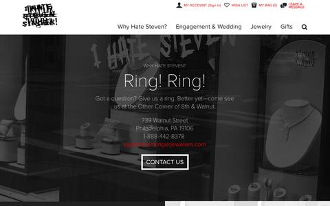Screenshot of Contact Page ihatestevensinger.com - Contact Steven Singer Jewelers - captured Nov. 4, 2014