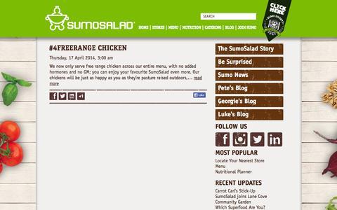 Screenshot of Blog sumosalad.com - Blog Spot   SumoSalad - captured Sept. 19, 2014