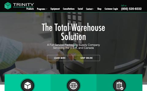 Screenshot of Home Page trinitypackagingsupply.com - Trinity | A Full Service Packaging Supply Company - captured March 11, 2019