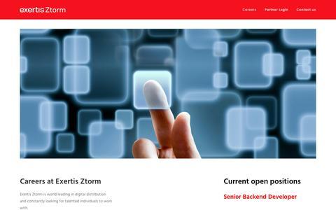 Screenshot of Jobs Page exertisztorm.com - Careers – Exertis Ztorm - captured Nov. 14, 2016