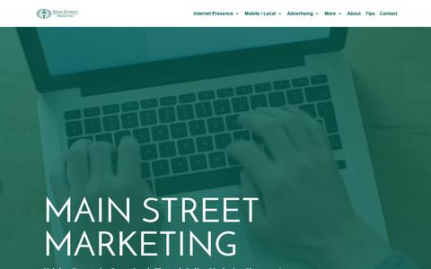 Screenshot of Home Page main-street-marketing.com - Internet Marketing Solutions For Small Businesses | Northern Kentucky / Greater Cincinnati - captured July 27, 2018
