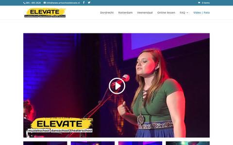 Screenshot of Press Page artsschoolelevate.nl - Media - Elevate - Muziekschool, Dansschool, Theaterschool - captured July 26, 2017