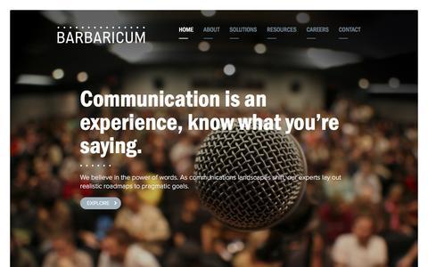 Screenshot of Home Page barbaricum.com - Barbaricum - captured Dec. 11, 2015