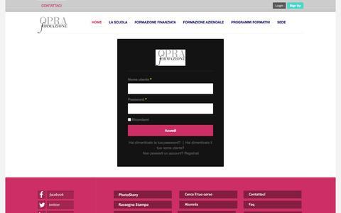 Screenshot of Signup Page opraformazione.it - AFORISMA Business School - captured Feb. 6, 2016