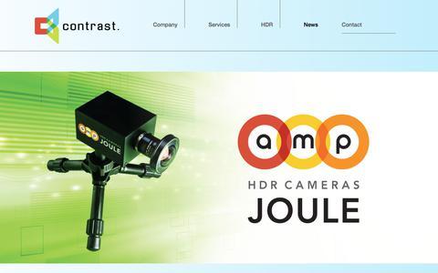 Screenshot of Press Page contrastoptical.com - News - Contrast Optical - captured Aug. 20, 2017
