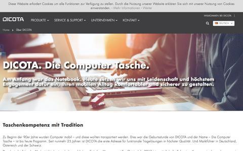 Screenshot of About Page dicota.com - Über DICOTA    DICOTA - captured June 3, 2017