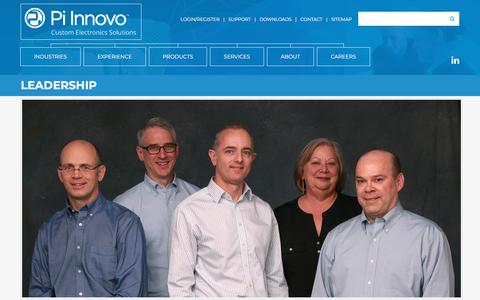 Screenshot of Team Page pi-innovo.com - Pi Innovo | About Our Embedded ControlsPi Innovo - captured July 18, 2018