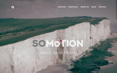 Screenshot of Home Page somotion.com - Digital Marketing Agency | Video | SEO | Sussex | Lewes - captured Dec. 24, 2015