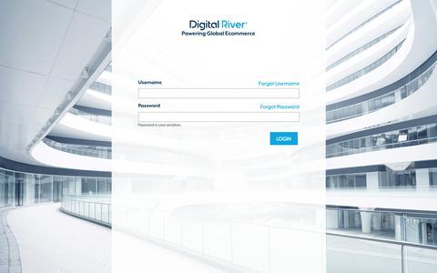 Screenshot of Login Page digitalriver.com - Global Commerce - captured Dec. 9, 2018