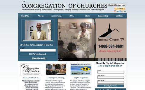 Screenshot of Home Page congregationofchurches.org - The Congregation of Churches - captured Jan. 28, 2016