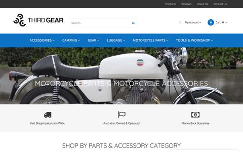 Screenshot of Home Page thirdgear.com.au - Motorcycle Parts and Accessories - Full Range Online - captured Sept. 21, 2018
