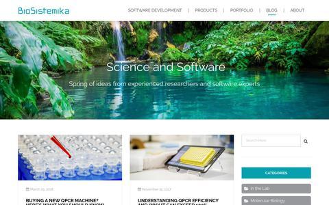 Screenshot of Blog biosistemika.com - Blog - Biosistemika - captured Aug. 2, 2018