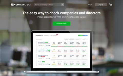 Screenshot of Home Page companycheck.co.uk - Company Check | Free Company & Director Information & Reports - captured Feb. 5, 2017